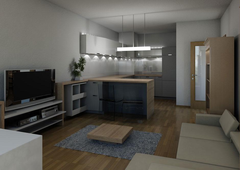 Interiér bytu – Praha – Stodůlky 01
